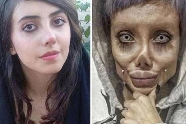 """""""Angelina Jolie of iran"""" is said to be diagnosed with the coronavirus"""