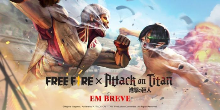 Games: Free Fire terá crossover com Attack on Titan